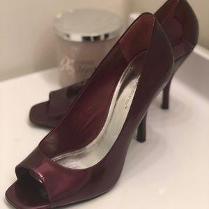 BCBG Generation open toe pumps heels